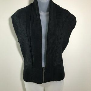 Armani Exchange Black Knit Zip Shrug/Vest NWOT